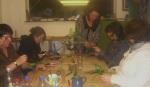 Making flowers from plastic bottles